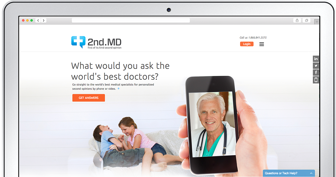 Medical consultation online with real time communications powered by the OpenTok platform from TokBox.